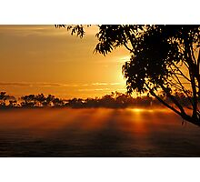 The rays of dawn Photographic Print