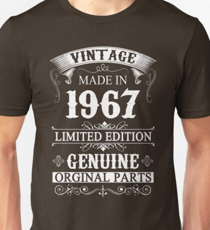 50 Years Old 1967 - 50th Birthday Gifts Unisex T-Shirt