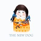 New pet dog with little girl. by Mary Taylor