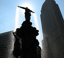 WKRP Fountain in Cincinatti by IndyLady
