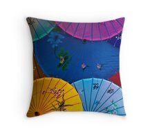 Umbrellas Throw Pillow