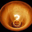 Glass Illuminated Light Bulb by TJ Baccari Photography