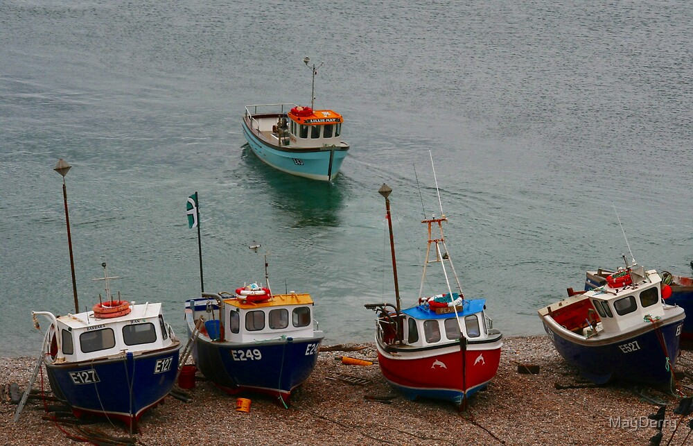 Fishing Boats by MayDerry