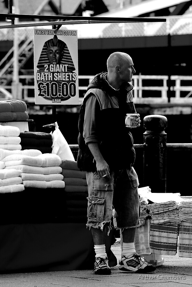 Market trader. by Arthur Chambers