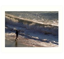 Surf Fishing Art Print