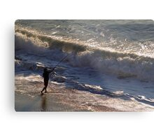 Surf Fishing Metal Print