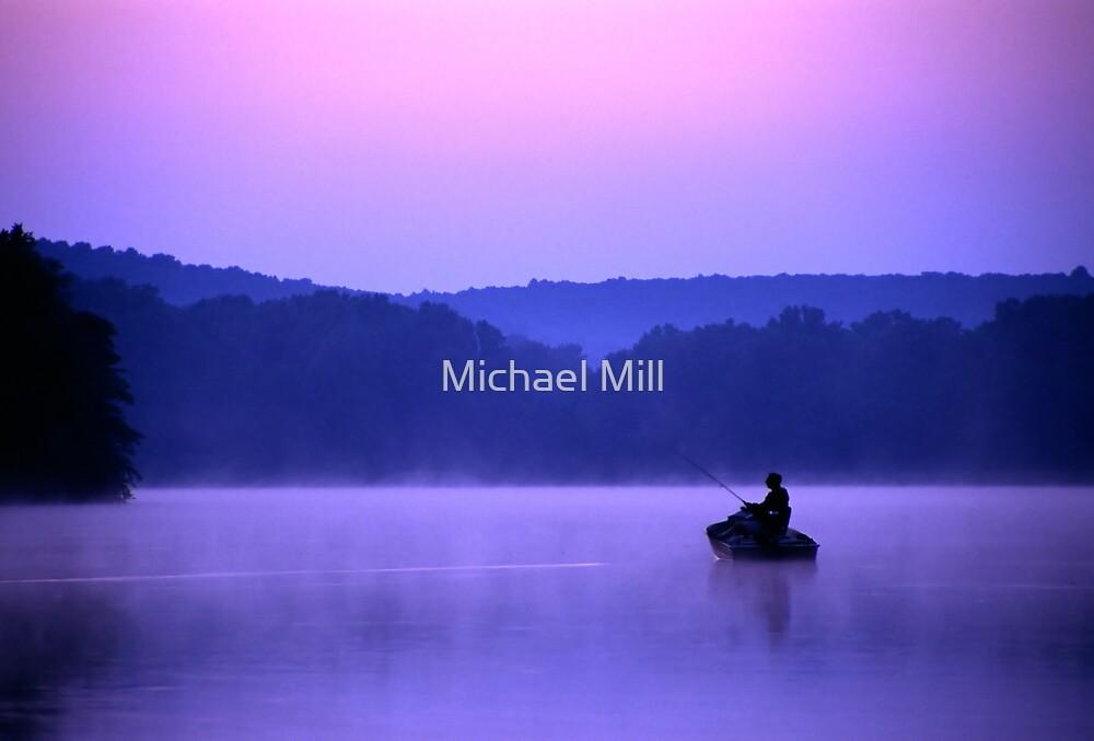 Twilight Fisherman by Michael Mill