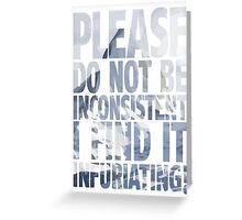 Please. Do not. Greeting Card