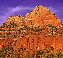 Purple Sedona by Karin  Hildebrand Lau
