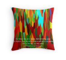 The Lord's Prayer For Children Throw Pillow