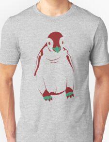 Festive Penguin, Red T-Shirt