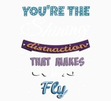You're The Shining Distraction That Makes Me Fly (with stars) Kids Clothes