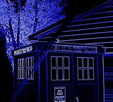 Neon Blue T.A.R.D.I.S. by PiscesAngel17