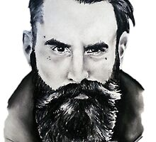 Ricki Hall Chalk Pastel Drawing by zoeandsons
