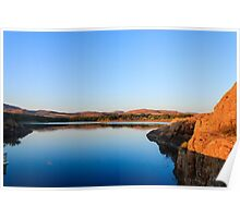 Serene Lake in Wichita Mountains Poster