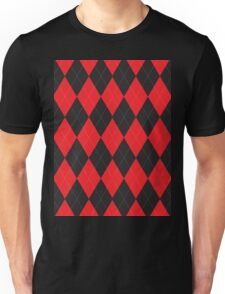 Red and Black Argyle T-Shirt