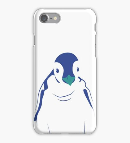 Festive Penguin, Blue iPhone Case/Skin