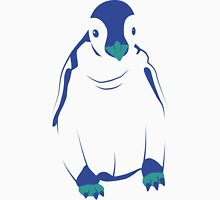 Festive Penguin, Blue Womens Fitted T-Shirt