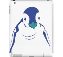 Festive Penguin, Blue iPad Case/Skin
