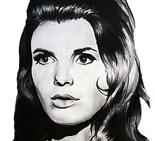Katharine Ross The Graduate Chalk Drawing by zoeandsons