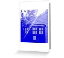 Blue and White T.A.R.D.I.S. Greeting Card