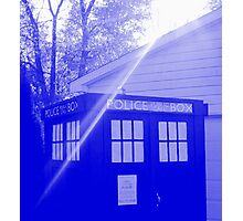 Blue and White T.A.R.D.I.S. Photographic Print