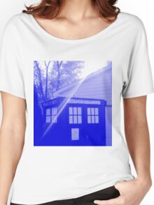 Blue and White T.A.R.D.I.S. Women's Relaxed Fit T-Shirt