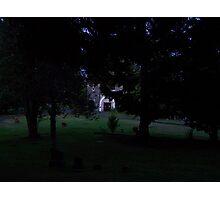 cemetary at night Photographic Print