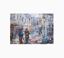 Art - Painting Of Street Scene - City Shopping Unisex T-Shirt