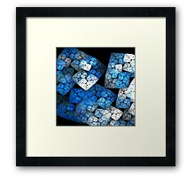 Fractal Blocks Framed Print
