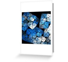 Fractal Blocks Greeting Card