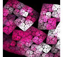 Red Fractal Blocks Photographic Print
