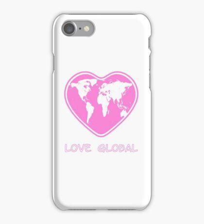 Love Global Pink iPhone Case/Skin