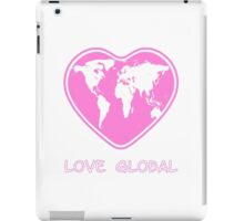 Love Global Pink iPad Case/Skin