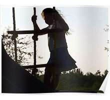 Silhouette of a Child Poster