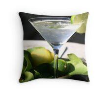 Summer Martini Throw Pillow