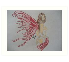 Beauty With Wings Art Print
