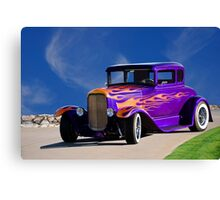 1930 Ford Model A Coupe 'Old School' Canvas Print