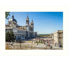 Almudena Cathedral in Madrid Art Print