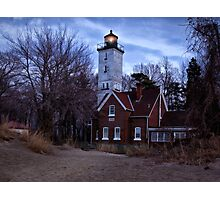 Night At the Light - Erie, PA Photographic Print
