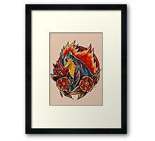 Quilava Framed Print