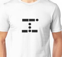 Geek Morse Code Black and White Art Unisex T-Shirt