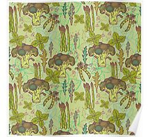 Green vegetables pattern. Poster