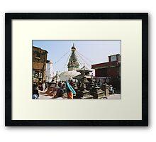 Buddhist Stupa in Kathmandu Framed Print
