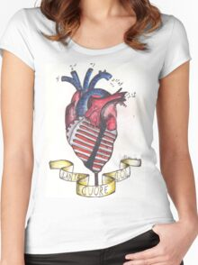 Canta col cuore. Women's Fitted Scoop T-Shirt