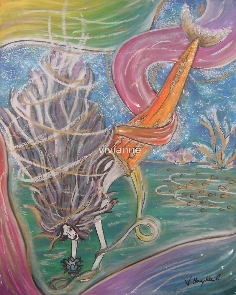 Mermaid With Flower by vivianne