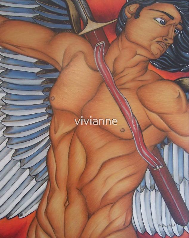 Michael - The Battle Angel by vivianne