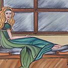 Reclining By Window by vivianne