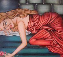 Sleeping on Stairs by vivianne