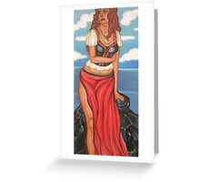 Standing By Rocks Greeting Card